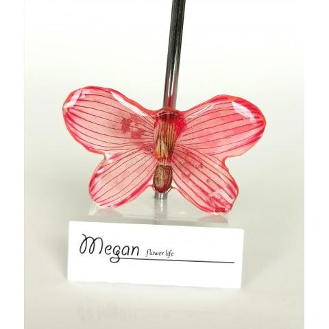 Брошка - червена пеперуда