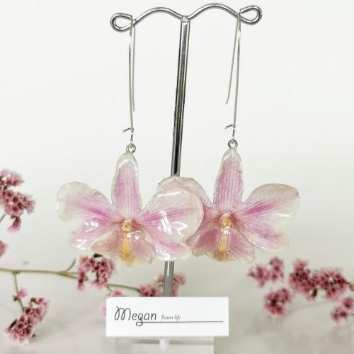 Дълги обеци Орхидеи 3DeLuxe