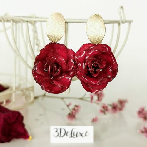 Луксозни обеци от рози