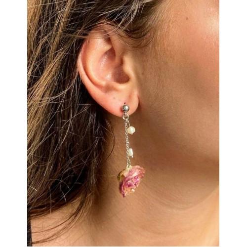 Малки розови розички и перли