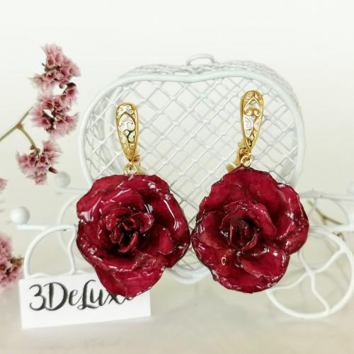 Обеци от рози - лукс