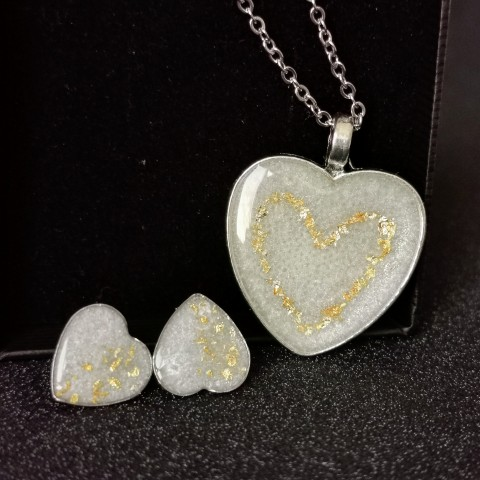 Комплект - Сърца с кърма и златен варак
