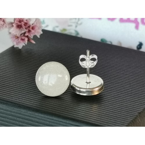 Малки сребърни обеци с кърма