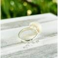 Перла кърма и коса - пръстен
