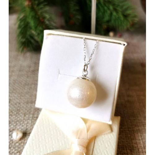Сребърна перла с кърма