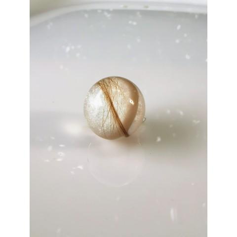 Сребърна перла с кърма и коса