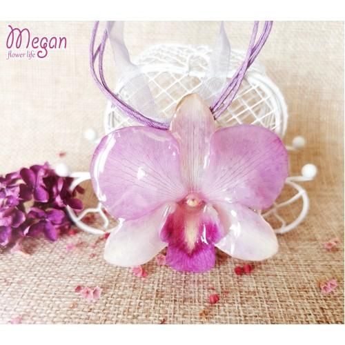 Лилаво бяла триизмерна орхидея 3DeLux