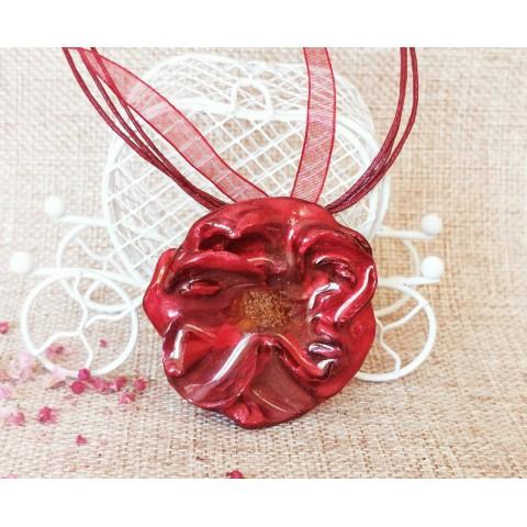 Триизмерна роза бордо