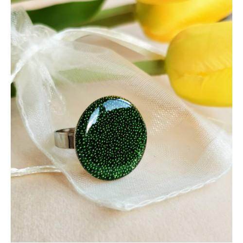 Пръстен фюжън в зелено