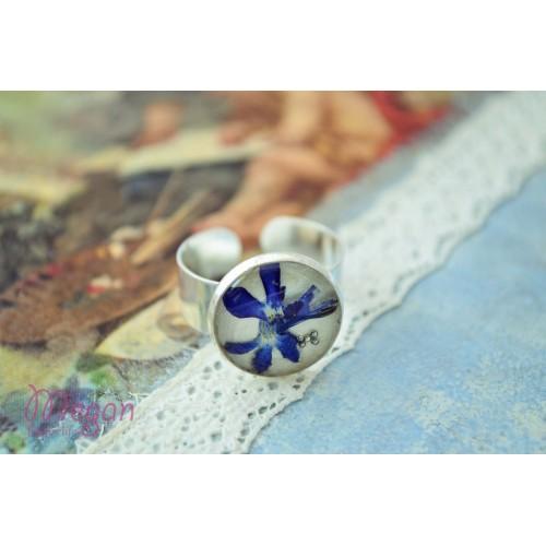 """Малък пръстен """"Синя върбинка"""""""