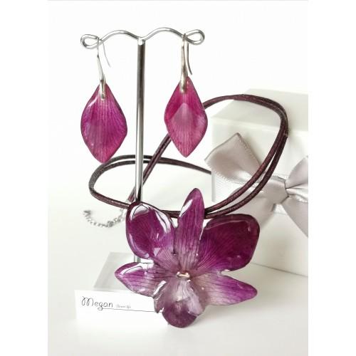Лилава орхидея Дендробиум - 3DeLux
