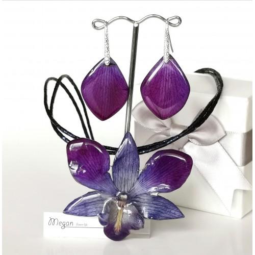Синьо-лилава орхидея Дендробиум - 3DeLux